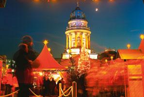 Berlin med julmarknad