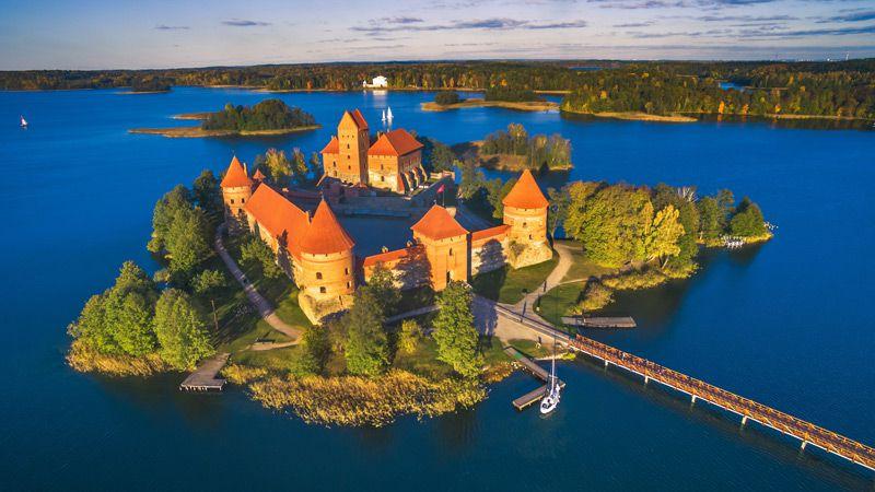 Staden Trakai var huvudstad i Litauen under 1300-talet.