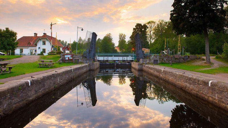 Göta kanal - Västergötland med Läckö slott