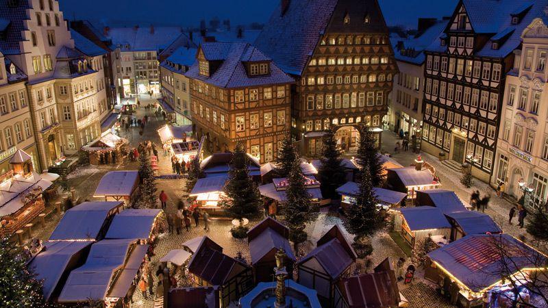 Stämningsfull jul i korsvirkesstaden Hildesheim