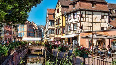 Måleriska Colmar i Alsace. Fransk idyll.