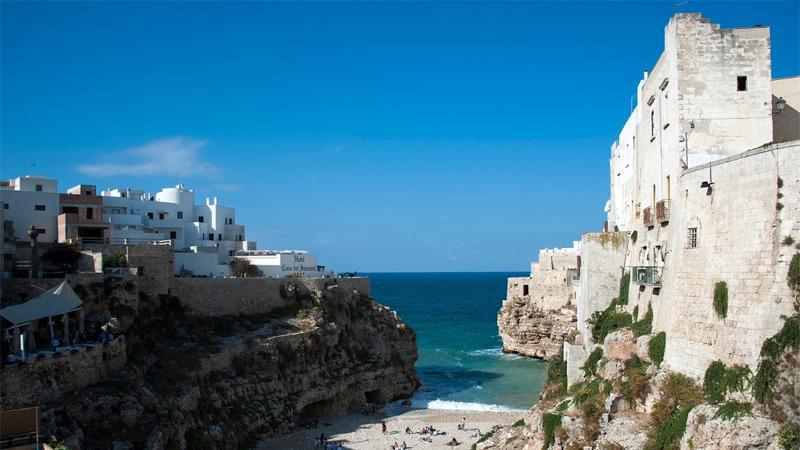 Polignano a mare  i Apulien. Foto: Anneli Skåreby