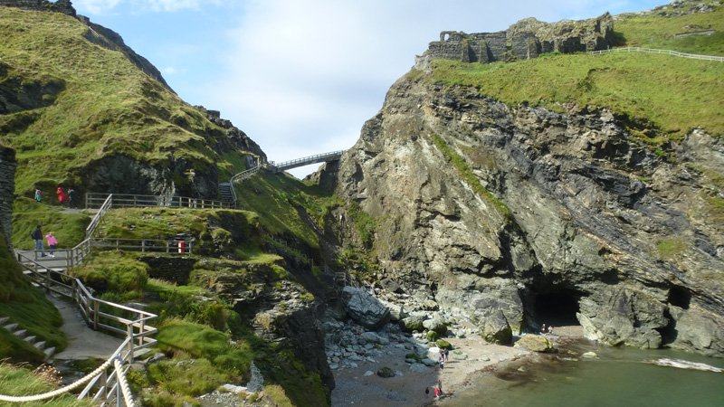 Tintagel Castle & vandring South West Coast Path Padstow