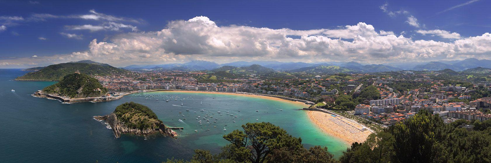 En utsikt över san sebastián, spaniens mest eleganta badort som reser till spanien | Jörns Resor