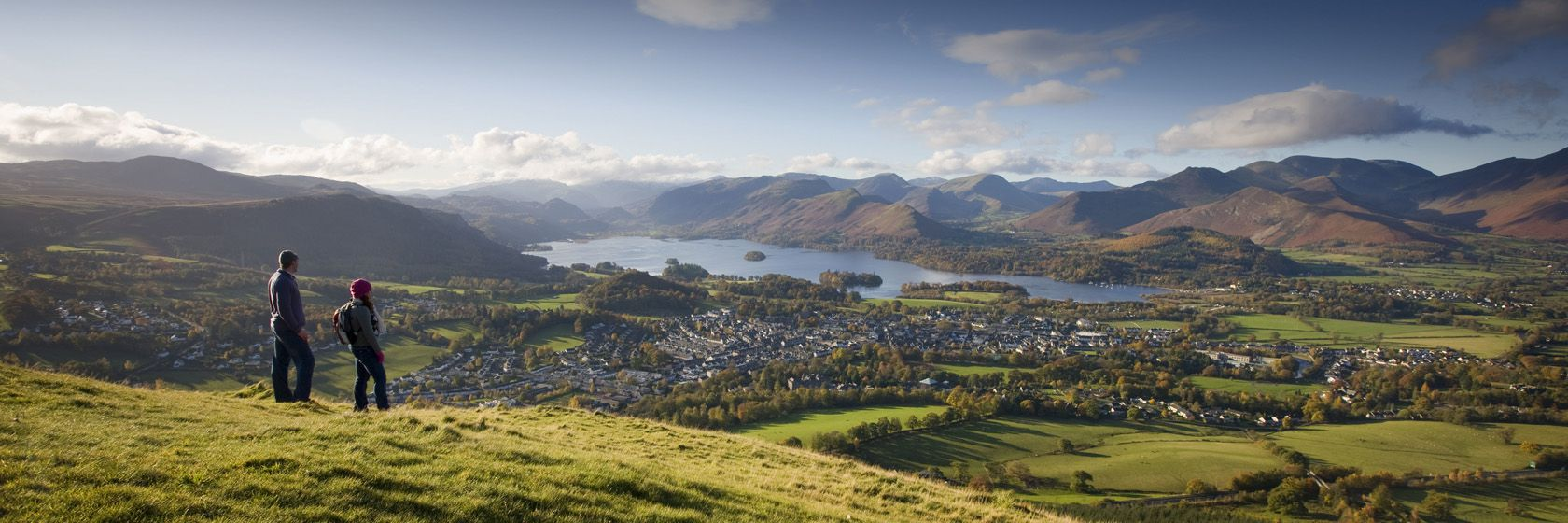 Panorama över Keswick, Lake District. Foto: Rod Edwards/Britain on View