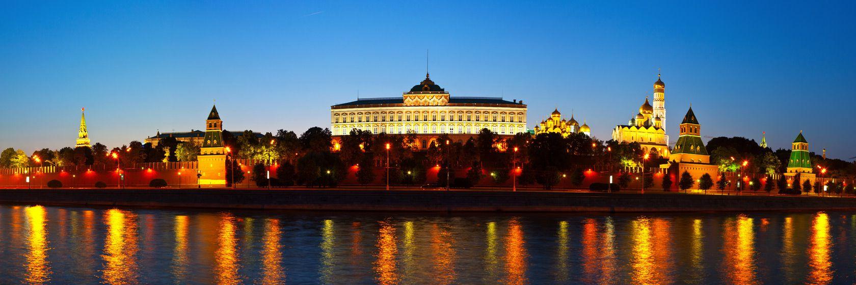 Den vackra horisonten en natt på en av resa till moskva | Jörns Resor