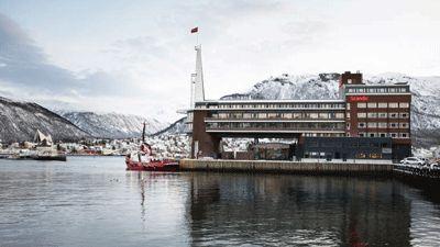 Framsida Hotel Scandic Ishavshotell Tromsö