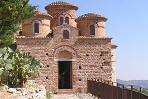 Den lilla kyrkan Cattolica di Stilo.